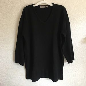 Croft & Barrow Black Knit Sweater